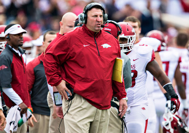 After leaving Wisconsin for Arkansas, Bret Bielema went 3-9 (0-8 SEC) with the Razorbacks last season.