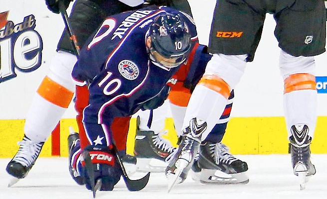 Marian Gaborik hasn't played for the Blue Jackets since breaking his collarbone on Dec. 21.