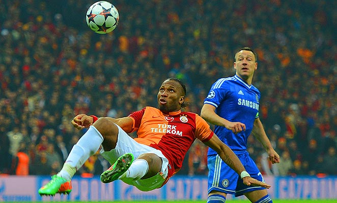 Didier Drogba couldn't find a way to score against his former team in Istanbul on Wednesday.
