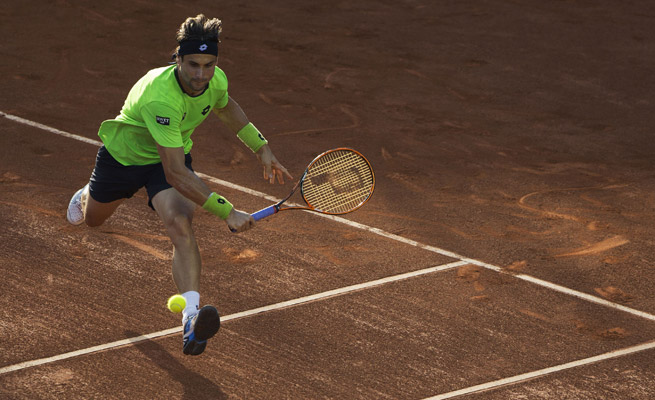 David Ferrer is off to his fifth consecutive Mexican Open quarterfinal after dispatching Feliciano Lopez.
