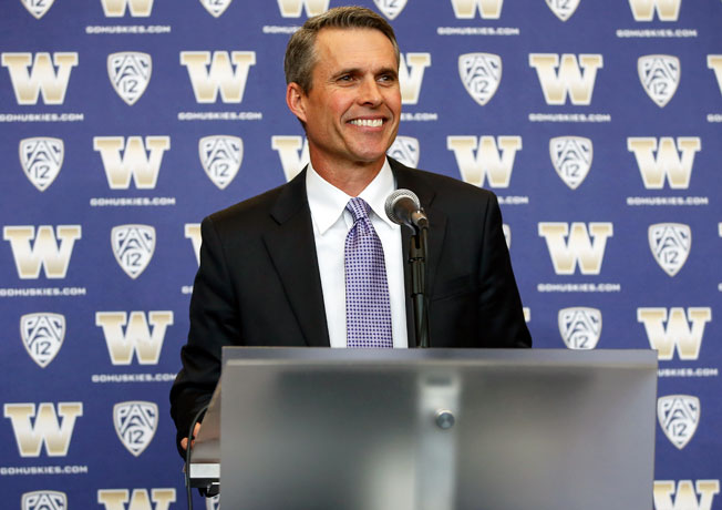 Chris Petersen went 92-12 as the coach at Boise State before he left for Washington in December.
