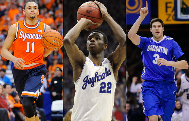 Tyler Ennis, Andrew Wiggins and Doug McDermott have all improved their draft stock in recent weeks.