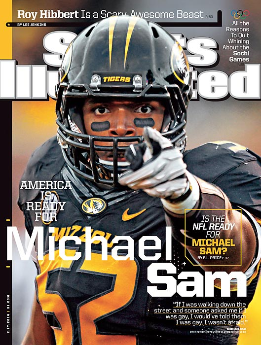 Prior to the 2013 college football season, Michael Sam -- a Missouri Tigers defensive lineman -- told his teammates he was gay. In early February, Sam told the rest of the world, only three months prior to the NFL Draft. Sam, the SEC's defensive player of the year in 2013, is expected to become the first publicly gay player in NFL history.