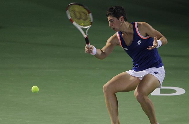The 15th-ranked Carla Suarez Navarro will now play third-seeded Klara Zakopalova of the Czech Republic.