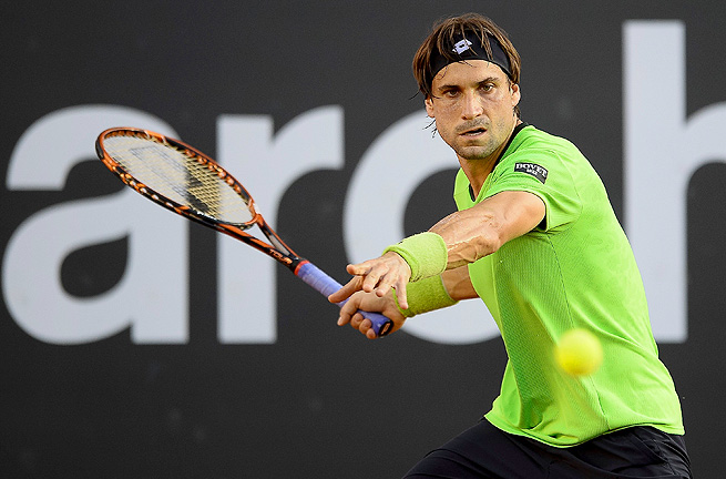 Third-ranked David Ferrer was leading 6-2, 2-2 when he suffered an inner thigh strain in his left leg.