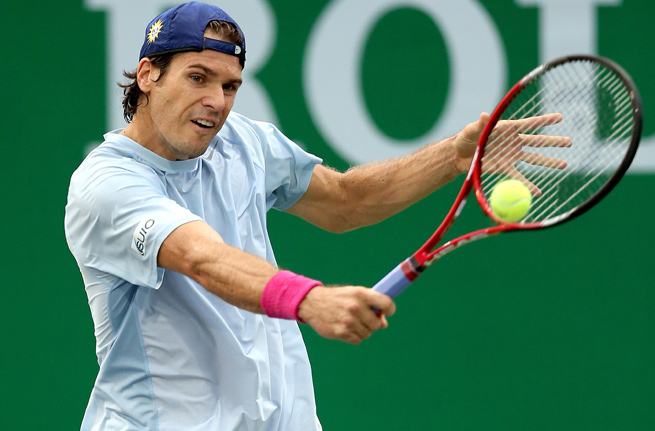 Tommy Haas was down 3-6, 2-3 before pulling out of his semifinal match against Paolo Lorenzi.