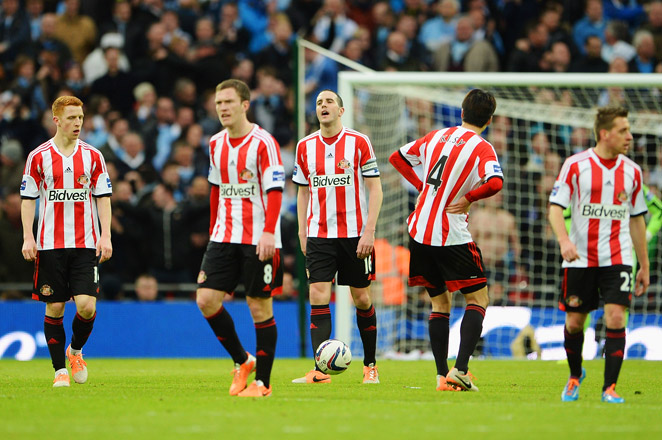 Sunderland was very close to a monumental upset of Manchester City to win the League Cup, but fell short in a 3-1 loss at Wembley.