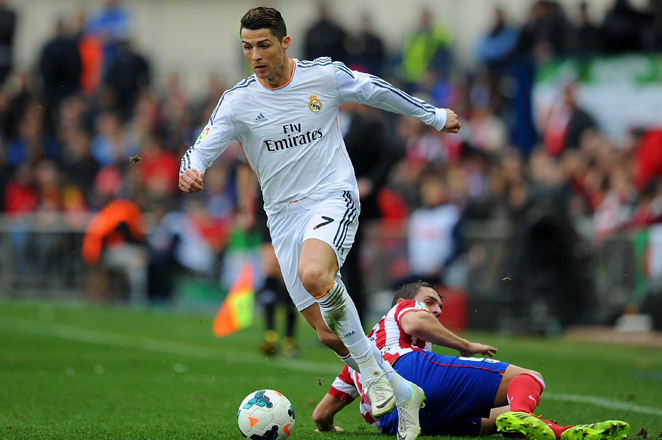 Cristiano Ronaldo scored the equalizer in the 82nd minute to help Real Madrid maintain its La Liga lead over Atletico.