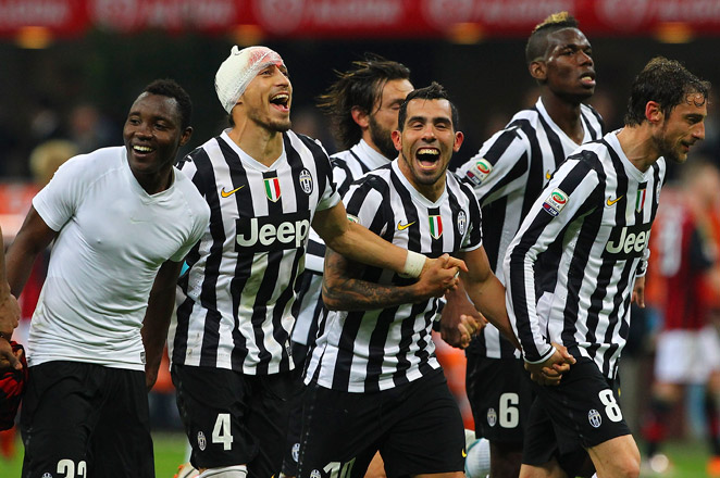Striding toward its third consecutive title, the victory at San Siro moved Juventus 11 points ahead of second-place Roma.