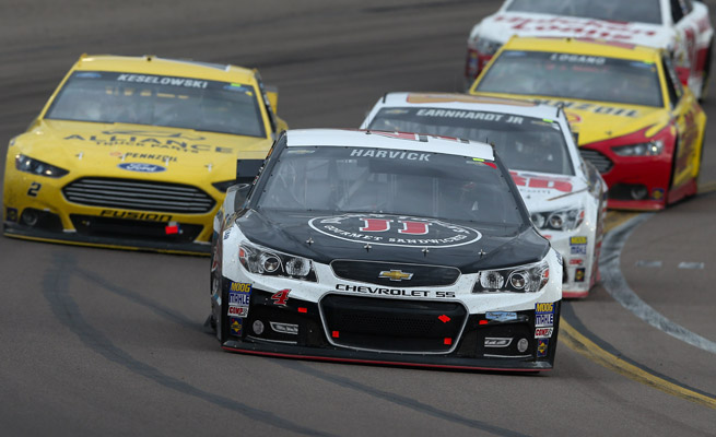 Kevin Harvick led the The Profit On CNBC 500 at Phoenix International Raceway for 224 of 312 laps.