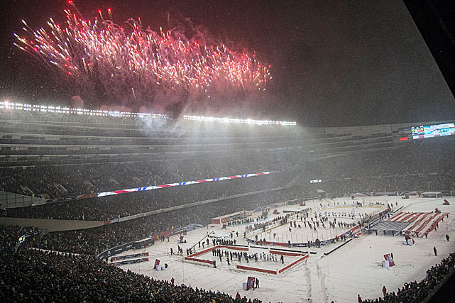 In 2014, the league pulled out all the stops and scheduled six of outdoor games. Four were part of a Stadium Series with one at Soldier Field in Chicago, one at Dodger Stadium in Los Angeles, and two at New York's fabled Yankee Stadium.