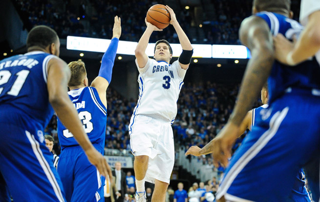 Doug McDermott's (center) shooting alone makes him an attractive option in the upcoming NBA draft.