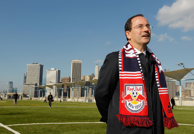 New York Red Bulls general manager Jerome de Bontin resigned from his post on Monday. The new MLS season kicks off on Saturday.