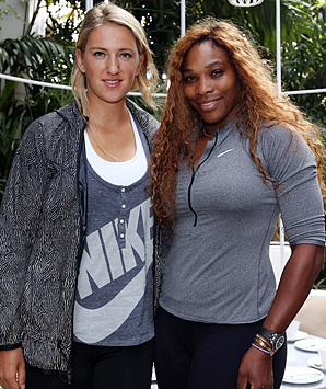 Victoria Azarenka (left) and Serena Williams have committed to play in the new International Premier Tennis League.
