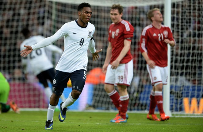 Daniel Sturridge scored the only goal of the game on a header in England's win over Denmark.