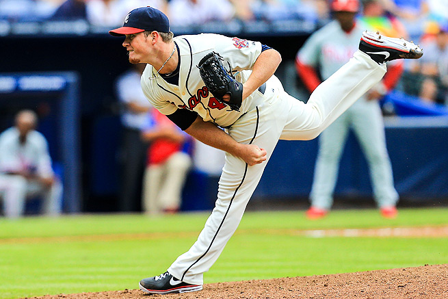 Craig Kimbrel recorded 50 saves with a 1.21 ERA and 98 strikeouts for the Braves last season.