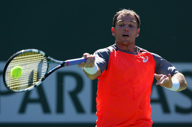 Russell beat Young for the fourth time in a row and fifth in six tries to set up a match against Russia's Mikhail Youzhny.