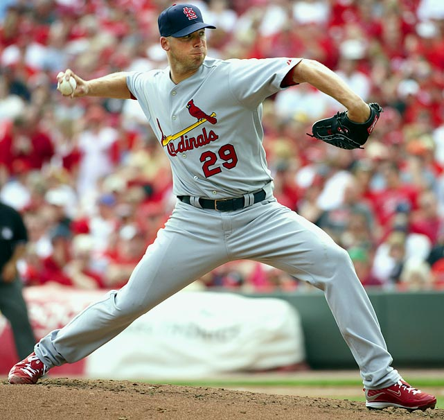 Carpenter won the 2005 NL Cy Young award after overcoming a serious shoulder injury that nearly ended his career. He was forced to miss all but five games combined in the 2007 and 2008 seasons because of Tommy John surgery and other ailments. He came back to go 17-4 with a NL-best 2.24 ERA at age 34 in 2009 and finished as the Cy Young runner-up, then went 16-9 with a 3.22 ERA in 2010 while making the All-Star team. He led the league in games started in 2010 and 2011.