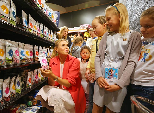 """Voncerned about the nutritional needs of her nation's urchins, the Russian tennis star launched her candy brand """"Sugarpova"""" in Sochi. For our hard-earned rubles, that's easily the most inspired name for something sweet since <italics>Chocolate Frosted Sugar Bombs</italics> in the old comic strip Calvin & Hobbes."""