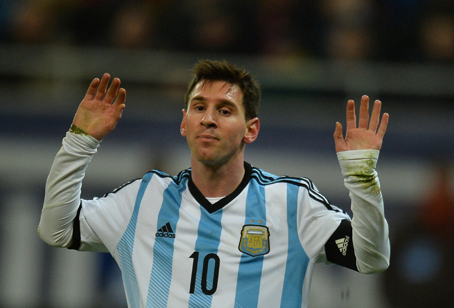 Lionel Messi vomited during Argentina's friendly against Romania on Wednesday.