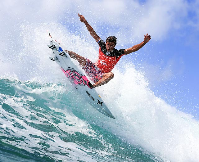 Australian surfer Julian Wilson competes during the Quiksilver Pro Gold Coast at Snapper Rocks on Monday in Australia. Wilson finished 13th.