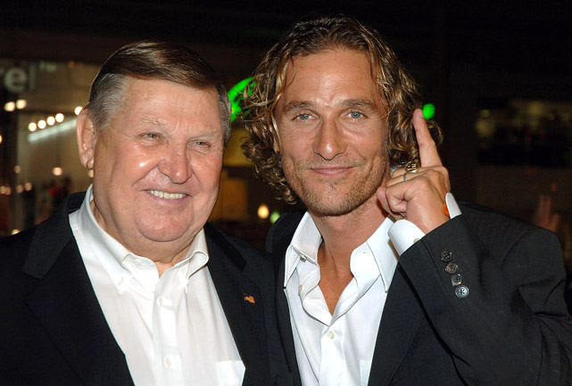 Jack Lengyel and Matthew McConaughey attend the premiere of <italics>We Are Marshall </italics>in Los Angeles on Dec. 14, 2006