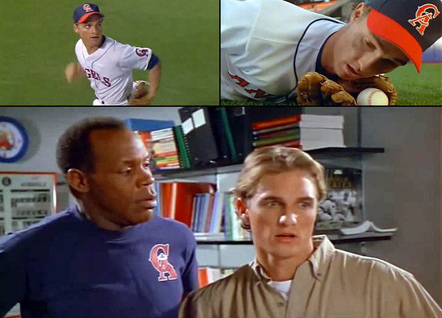 One of McConaughey's earliest roles came in the 1994 remake of <italics>Angels in the Outfield</italics>, as Angels' outfielder Ben Williams.