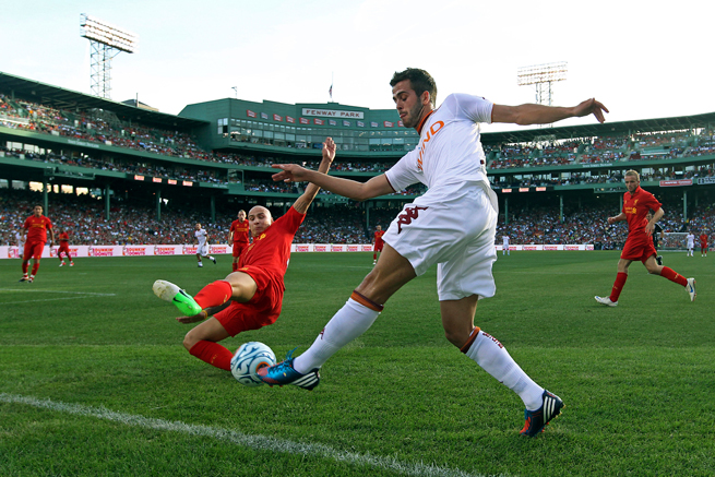 Liverpool and Roma will meet again at Fenway Park after playing a summer friendly there in 2012.