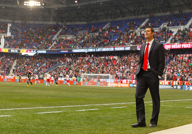 New York Red Bulls manager Mike Petke was rewarded with a new contract after guiding the club to the MLS Supporters' Shield last season.