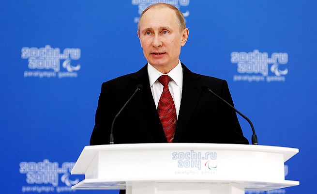 Amidst the turmoil in Ukraine, the Paralympics have continued in President Vladimir Putin's Russia.