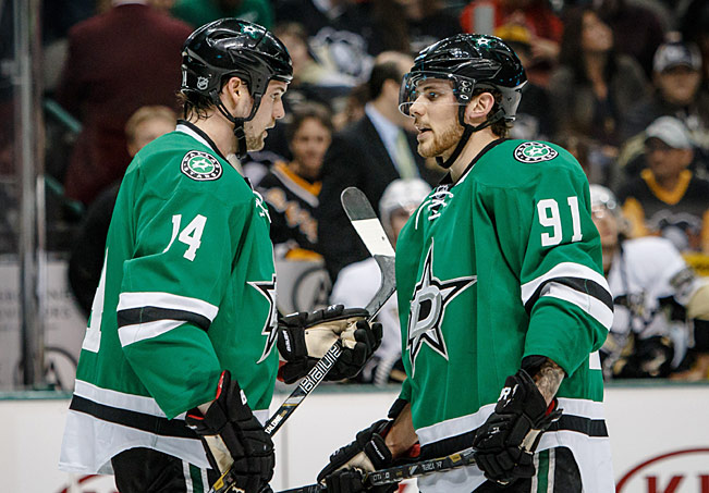 Tyler Seguin's chemistry with linemate Jamie Benn (left) is a big reason why the Stars are on the rise.
