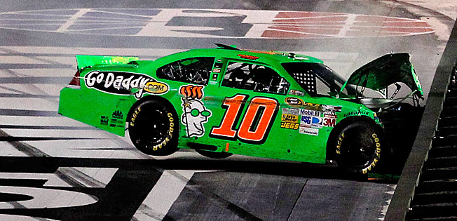 Danica Patrick (seen here in August 2012) is not stranger to wrecks at Bristol.
