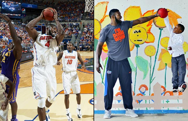 Patrick Young never expected to be a four-year player in college, but that's what he's become. And he's gained fame throughout Gainesville for his fierce on-court demeanor and his affable nature off the court. He's also donated a lot of his time to local charities.
