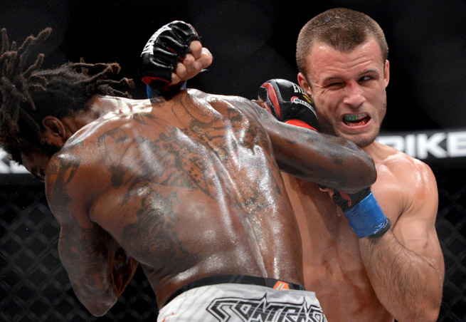 Pat Curran was able to exact a measure of vengeance on Daniel Straus, who took his featherweight belt in their last bout.