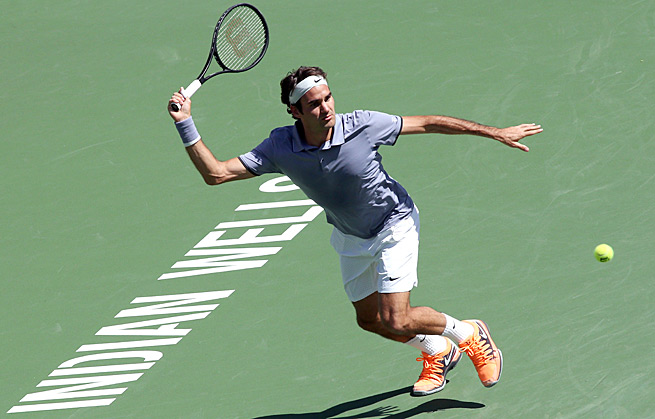 Roger Federer had no trouble against Alexandr Dolgopolov in the semifinals on Saturday.