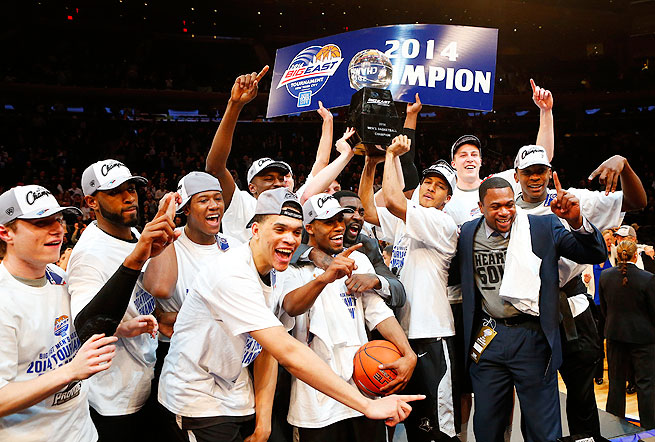 In the first year of the new Big East, it was holdover Providence taking the tourney title.