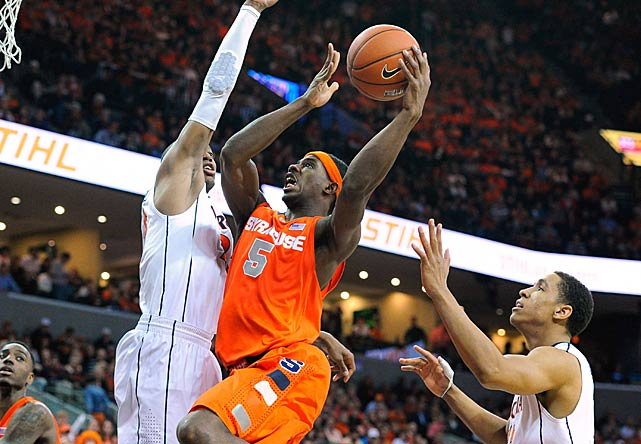 Leading Scorer: C.J. Fair (16.9 ppg., pictured) Leading Rebounder: Jerami Grant (6.8 rpg.) Leading Passer: Tyler Ennis (5.5 apg.) Bad Losses: Boston College, Georgia Tech Good Wins: UNC, Duke, Villanova
