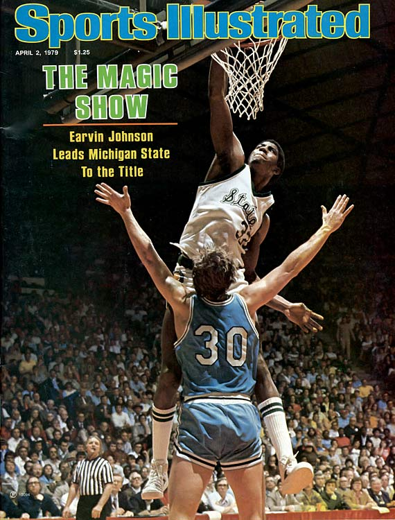 "Sophomore point guard Magic Johnson made the Spartans fly, and his two triple doubles capped an otherworldly NCAA run that would earn Michigan State its first national title and Johnson a statue on campus. ""Every member of the team is a hero,"" one Spartans fan gushed to SI that April, ""but Magic is a legend."""