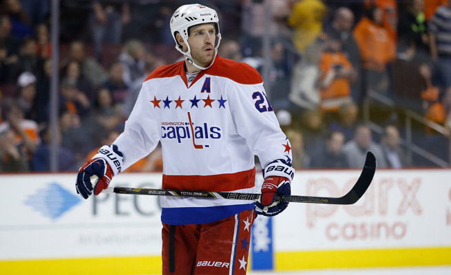 Brooks Laich racked up eight goals and 15 points in 51 games for the Capitals this season.