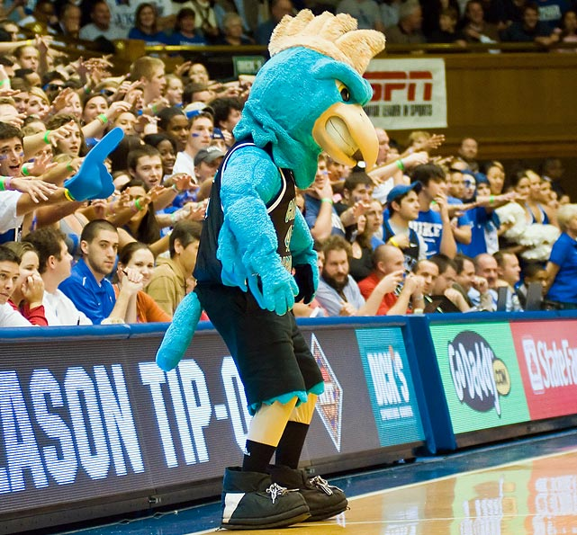 Chanticleers. CHANTICLEERS. Coast Carolina could've gone with roosters, but it made its mascot far more noble and literary. A <italics>Canterbury Tale</italics> throwback on the hardwood.