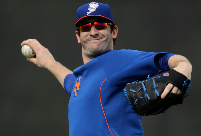 Matt Harvey has been sidelined since tearing a ligament in his elbow last August.