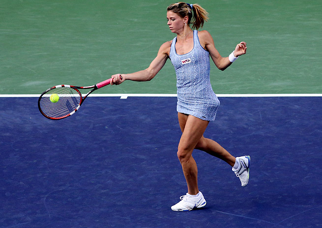 Camila Giorgi upset Maria Sharapova at Indian Wells but lost in qualifying in Miami.