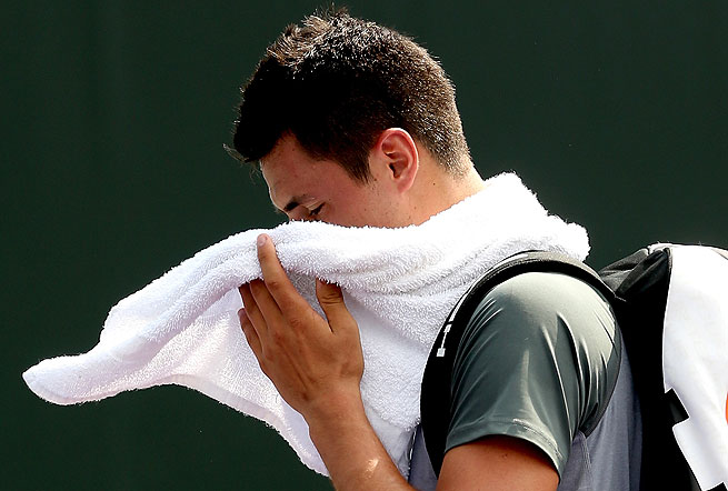 Bernard Tomic won just 13 points and lost to Jarkko Nieminen 6-0, 6-1.