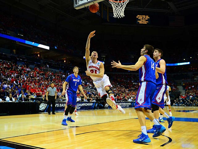 Josh Gasser and the Badgers were down 17-10 in the early going but turned things around quickly.