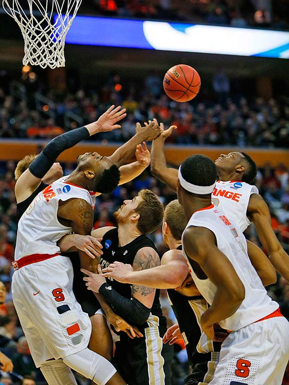 Rakeem Christmas (25) helped Syracuse outrebound the Broncos 39-19.