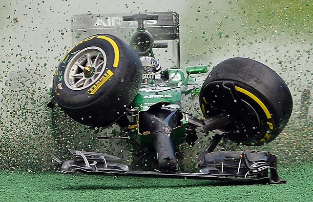 Welcome to another installment of <italics>Did You See That?</italics>, the wheels-off photo gallery that won't fare much better than this Caterham-Renault at the start of Formula One's Australian Grand Prix. Come along for this week's ride if you have the stomach.