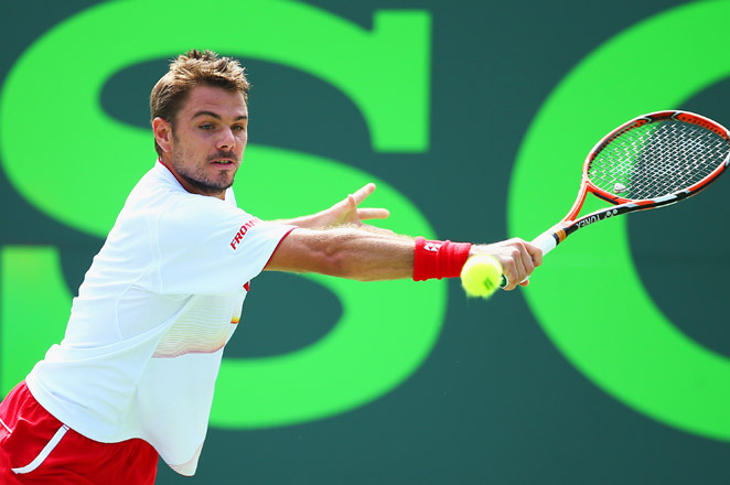 The No. 3-seeded Wawrinka, who won the Australian Open in January, hit 33 winners and improved to 14-1 this year.