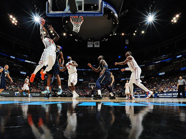 Casey Prather (24) battles for a rebound. He and his teammates will face either fourth-seeded UCLA or 12th-seeded Stephen F. Austin on Thursday in the South Regional in Memphis.
