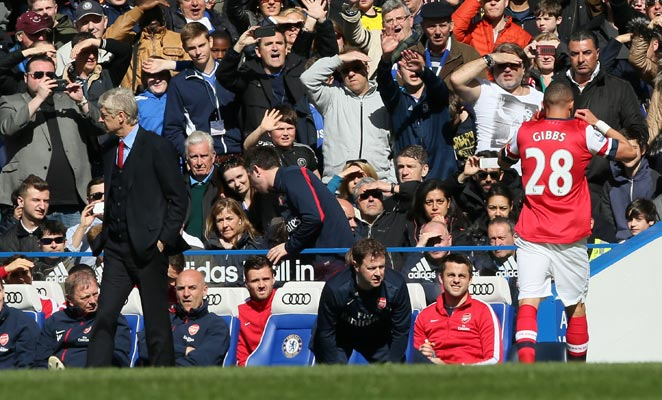 Arsene Wenger's 1000th game as Arsenal manager was spoiled by a heavy loss and Kieran Gibbs' mistaken red.