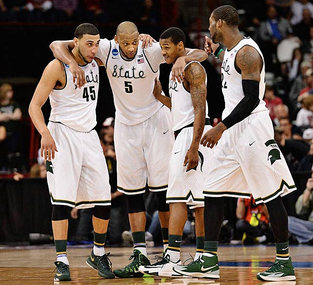 Despite squandering a 16-point lead and trailing by two with a little over seven minutes left, Michigan State regained it composure and moved on.